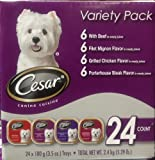 Cesar Variety Pack 3.5 Oz Trays 24 Count, My Pet Supplies