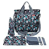 Image of Diaper Bag - Shoulder and Stroller Diaper Bag, Waterproof, Blue Polka-dot