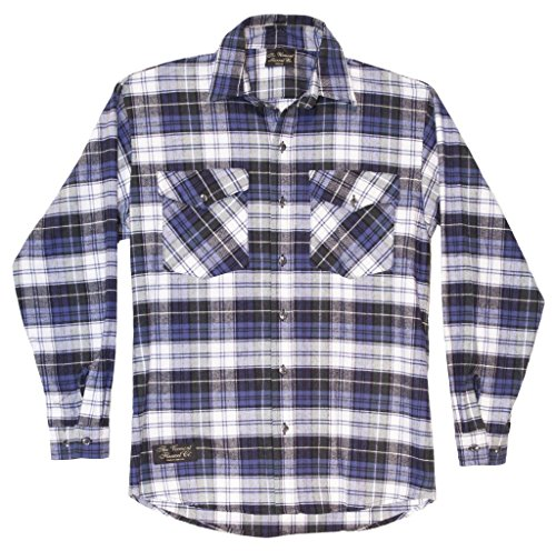 Campbell Flannel - Handcrafted USA - The Vermont Flannel Company - Campbell Men's Classic Full Button Down Shirt Extra Small