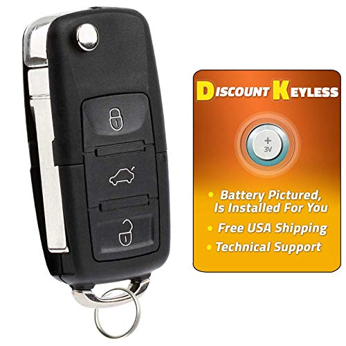 Discount Keyless Replacement Uncut Car Remote Fob Key For Volkswagen Passat Jetta Golf Cabrio HLO1J0959753AM (Beetle Vw Driver)