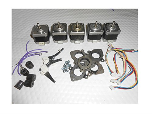 Lot of 5 NEMA 17 Stepper Motor GT3 Mill Robot RepRap Makerbot Prusa S5 from Unknown
