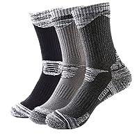 MAIBU 3-Pack Ski Socks Warm Comfortable Cushioned Sport Socks for Running, Mountain, Snowboard