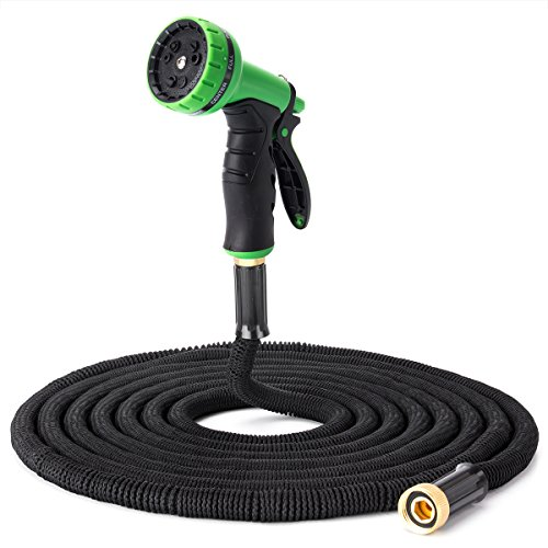 YYGIFT 50 ft Flexible Garden Hose With 9-Function Sprayer - Expanding Pocket Water Hose - Durably Crafted - Anti-Burst,Crush-Resistant,Leak-Resistant,The Second Generation 2016