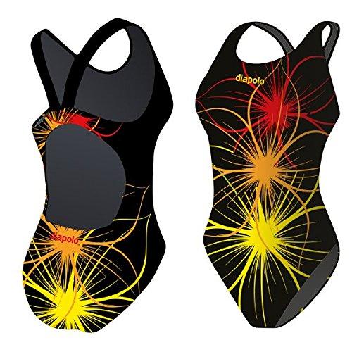 Diapolo Badeanzug Neonflower Kollektion für Schwimmen Synchronschwimmen Wasserball Thriathlon