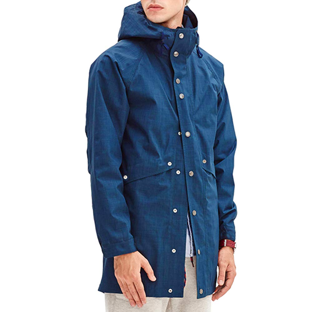 Romanstii Raincoat Men Waterproof for Work Big and Tall Rain Jacket Mens Packable Lightweight Windproof,Unisex,for Ski,Travel,Fishing,Camping,Any Outdoor Activities Blue by Romanstii