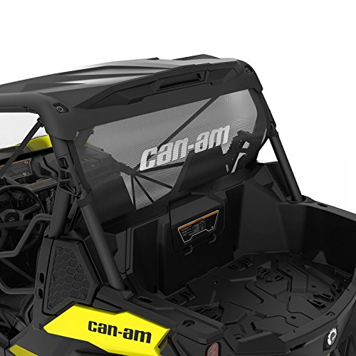 Can-Am New OEM Rear Wind Screen Maverick Trail Black, 715003664 (Can Am Maverick Windscreen)
