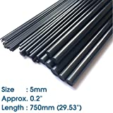ABEST 5mm Diameter x 750mm Length Carbon Fiber