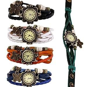 Wholesale Lot of 5pcs Womens Girls Butterfly Bracelet Wrist Watches