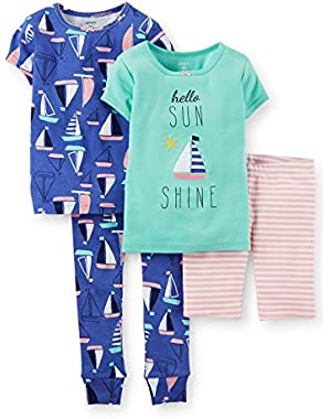 Carters Baby Girls Four-Piece Pajama Set - Hello Sunshine