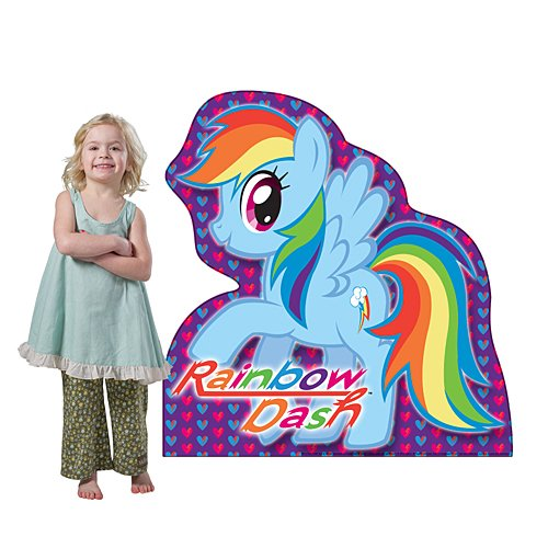3 ft. 10 in. My Little Pony Rainbow Dash Standee Standup Photo Booth Prop Background Backdrop Party Decoration Decor Scene Setter Cardboard Cutout