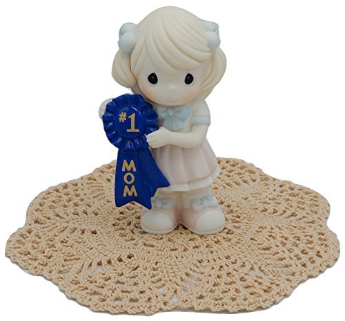 Precious Moments Loving Family collectible figurines with Westbraid Doily (#1 Mom [Girl])