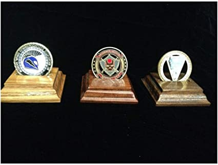 3 Display Stand Easel for Challenge Coin AA Medals Token Badge Air-tite BLACK