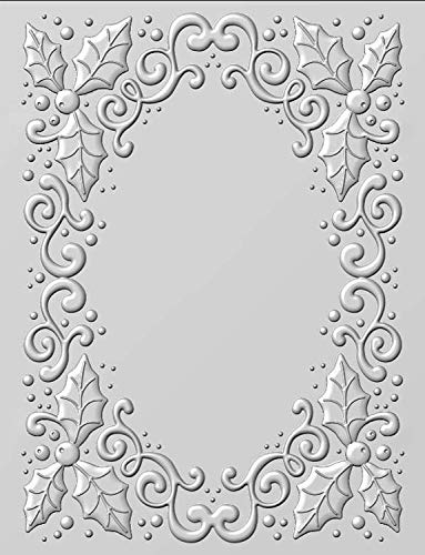 - Creative Expressions Embossing Folder 3D Holly Swirls, EF3D008