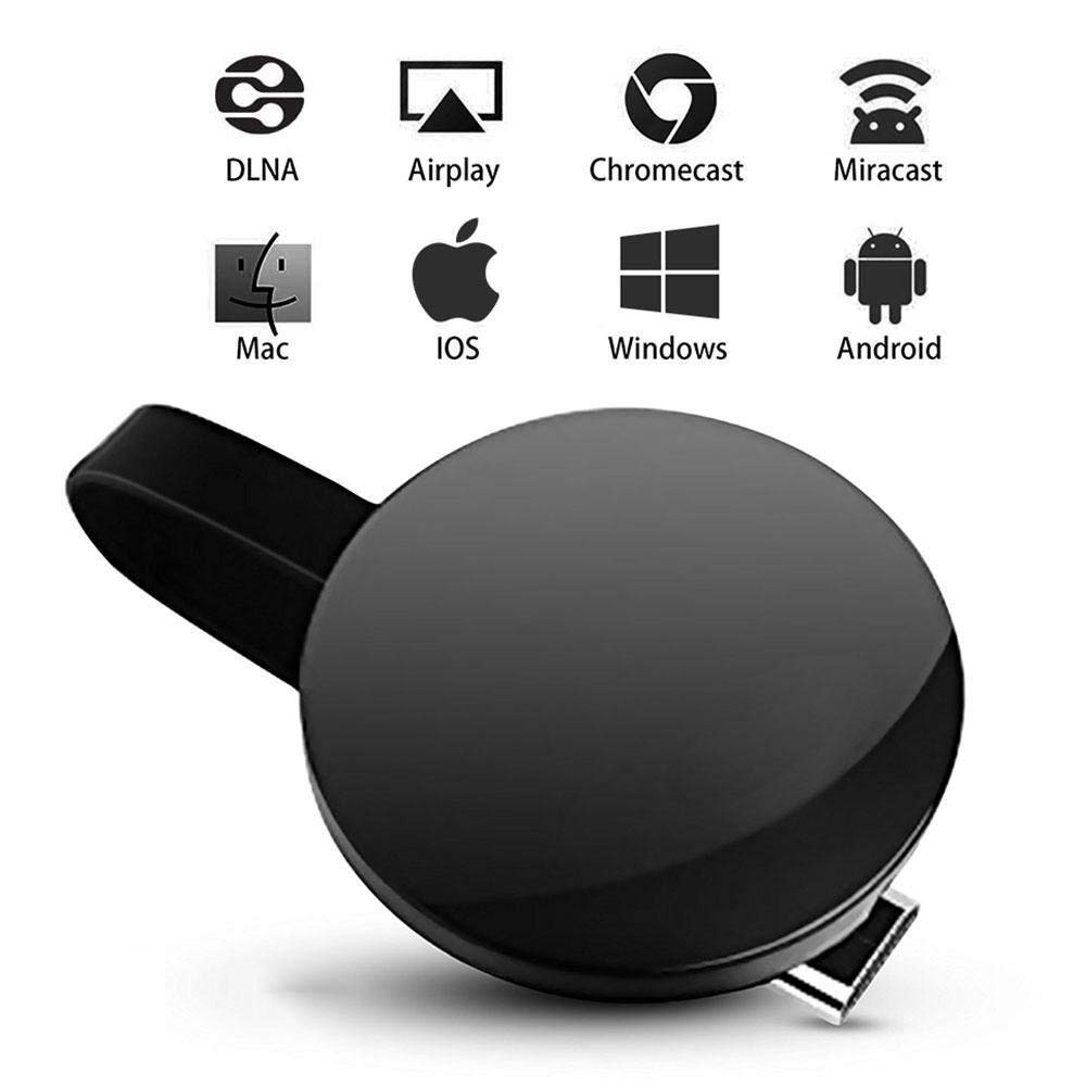 1080P Wireless Display Receiver Miracast WiFi Display Adapter Screen Mirroring Dongle Compatible Airplay HDMI Miracast DLNA for iOS Devices Android Smartphone, TV and Mac Windows 8.1/10