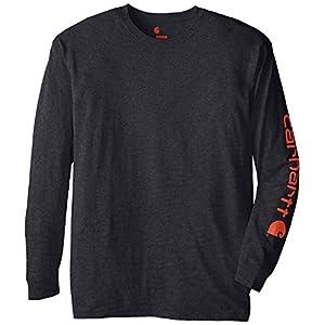Best Epic Trends 51TAtKZbvGL._SS300_ Carhartt Men's Big & Tall Signature Sleeve Logo Long Sleeve T-Shirt