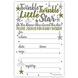 Twinkle Twinkle Little Star Baby Shower Invitations...