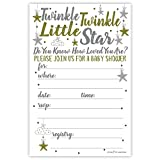 Twinkle Twinkle Little Star Baby Shower Invitations (20 Count) With Envelopes