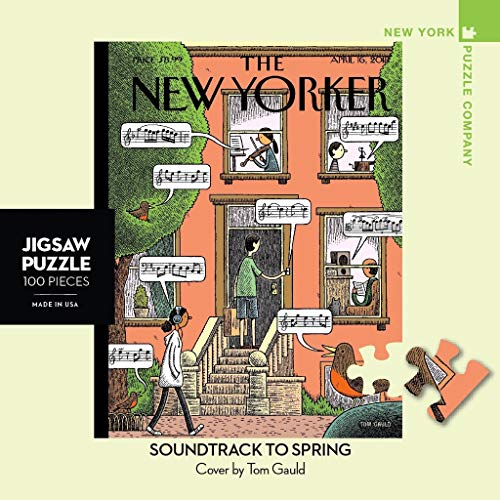 New York Puzzle Company - New Yorker Soundtrack to Spring Mini - 100 Piece Jigsaw Puzzle
