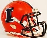 ILLINOIS FIGHTING ILLINI NCAA Riddell Revolution SPEED Mini Football Helmet (ORANGE)