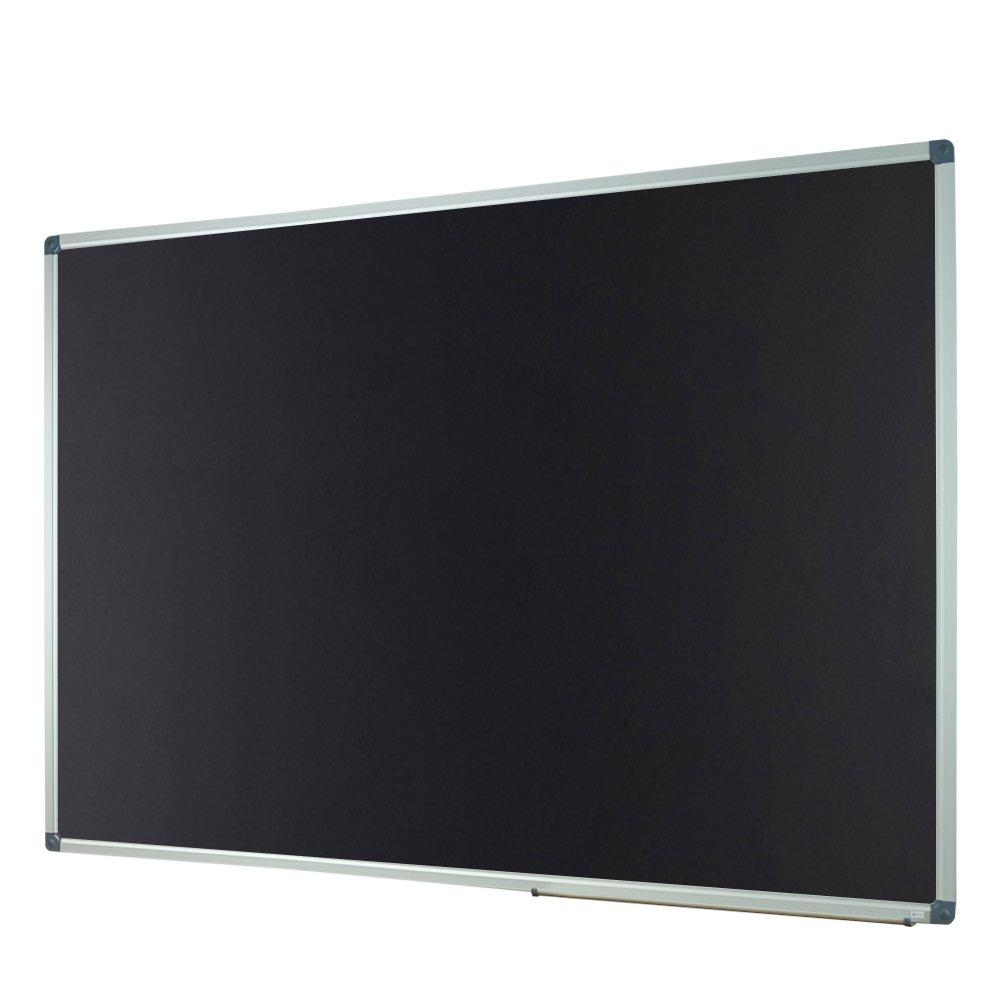 Lockways Magnetic Chalk board blackboard - Black board 60 X 40, Silver Aluminium Frame For Home, School & Office, Detachable Aluminum Pentray & 8 Magnets