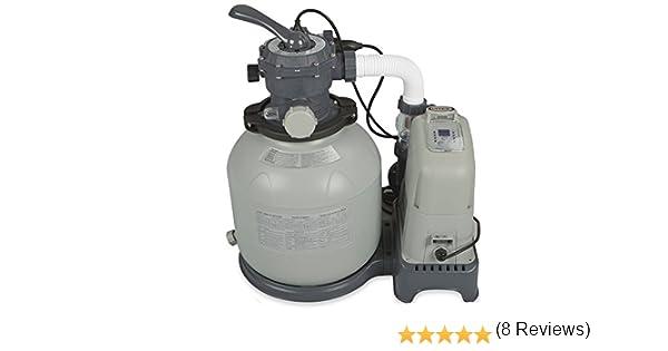 Intex Combo - Depuradora de Arena y cloración Salina, 32.200 l ...