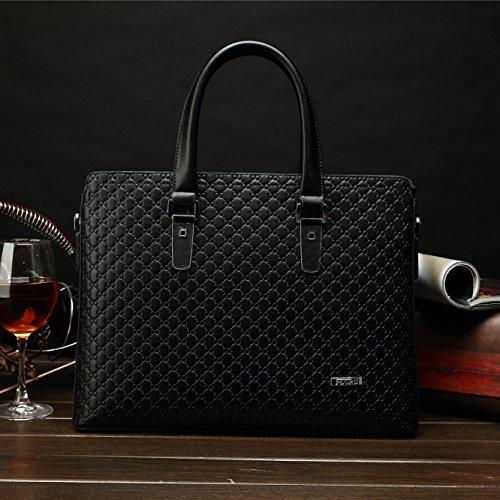 Ranbow Gentleman bolsas Classic Calidad Business Casual maletín de bolsos para hombre azul azul free negro