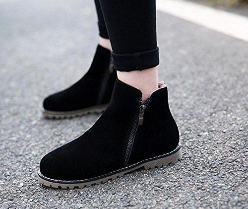 in 41 NSXZ cotone stivali inverno gli Martin donne grandi scarpe da e stivali donne di Autunno stivali 35 cerniera singoli donna stivali di pelle BLACK delle stivali taglia wEAnqEp0