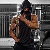 Magiftbox Mens Workout Hooded Tank Tops Sleeveless