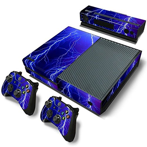Gam3Gear Decals Skin Vinyl Sticker for Xbox ONE Console & Controller - Blue Thunder ()