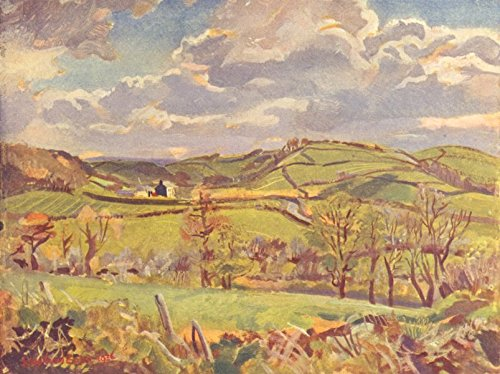 WALES. The Intake. April in Carmarthenshire - 1939 - old pri