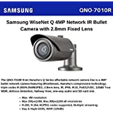 Samsung WiseNet Q 4MP Network IR Bullet Camera with 2.8mm Fixed Lens (Dark Gray)