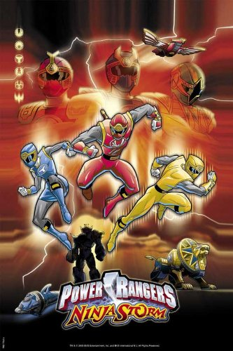 Amazon.com: Power Rangers Ninja Storm - Movie Poster - 27 x ...