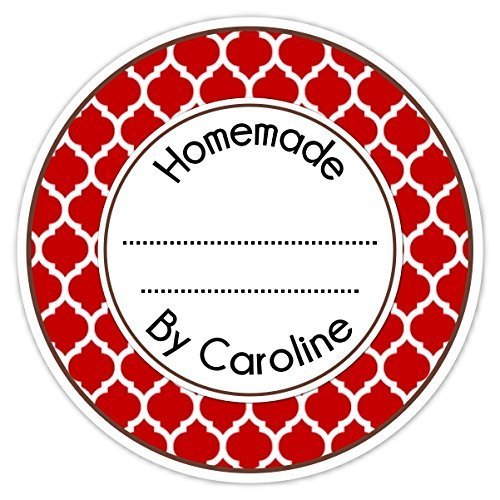 amazon com 36 from the kitchen labels red custom made for you rh amazon com  from the kitchen of labels personalized