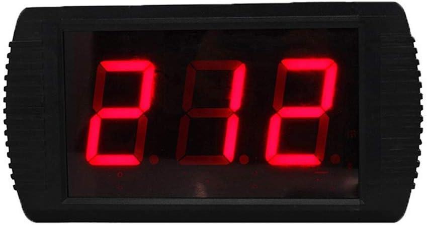 トレーニングタイマーデジタルスポーツタイマー LEDフィットネスリモートコントロールジムトレーニングタイマー屋内インターバルタイマー壁時計リモコン付き (色 : ブラック, サイズ : 30X16X4CM) ブラック 30X16X4CM