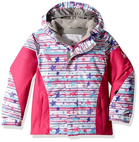 Spyder Girls' Bitsy Charm Ski Jacket, Star Stripe Multi Print/Taffy Pink, Size ()