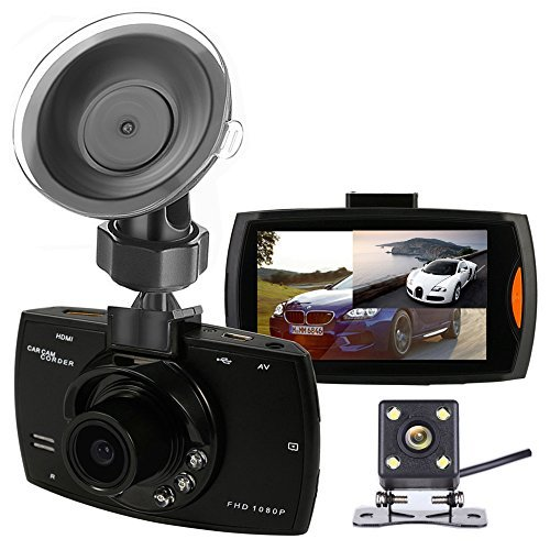 Dual Backup Camera and Dash Cam with FHD 1080P Resolution 2.7''LCD Screen Night Vision Safety Parking MonitorWaterproof 140 Degree Dashboard Cam with 170 Degree Rear View Camera [並行輸入品]   B07F9KSNF4