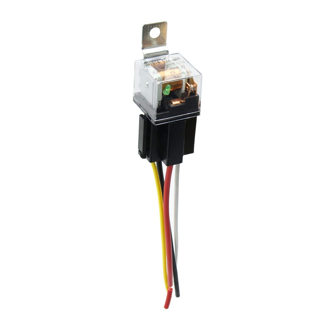 Amazon.com: uxcell Waterproof DC 12V 80A SPST Auto Car Relay ... on