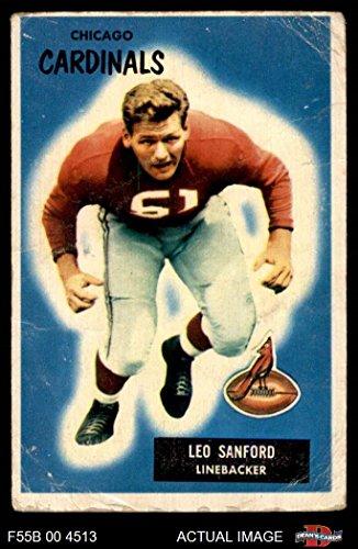 Football 123 - 1955 Bowman # 123 Leo Sanford Chicago Cardinals-FB (Football Card) Dean's Cards 2 - GOOD Cardinals-FB