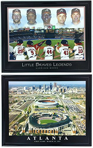 - Framed Baseball Little Braves Legends Atlanta Braves Stadium LL6006