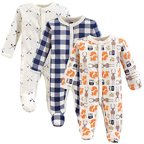 Hudson Baby Unisex Baby Cotton Preemie Sleep and Play, Forest, Preemie