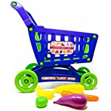 Boley Toy Shopping Cart with Toy Food - Supermarket Playset with included Grocery Cart Toy and Pretend Food