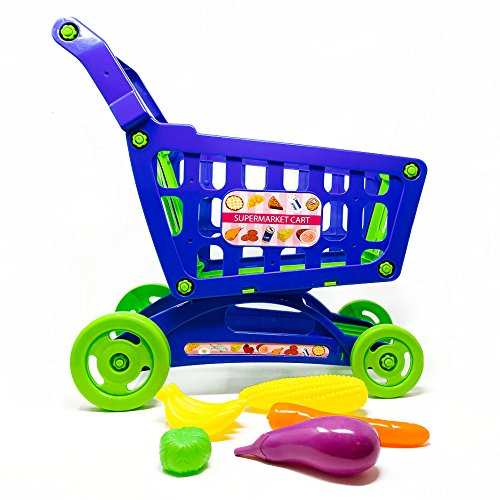 Boley Educational Toy Shopping Cart - Supermarket Playset with Included Grocery Cart Toy and Pretend Food Accessories - Perfect for Kids, Children, Toddlers Learning Development]()