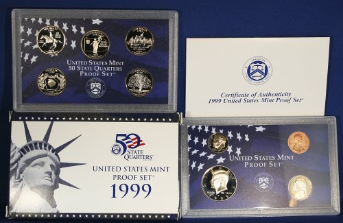 1999 S Proof Set in Original US Government - Proof 1999 United Set States Mint