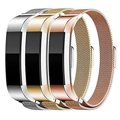 "Metal Band for Fitbit Alta HR and Fitbit Alta, Replacement Stainless Steel Accessories for Men and Women, 5.5"" - 8.1"" Wrist"