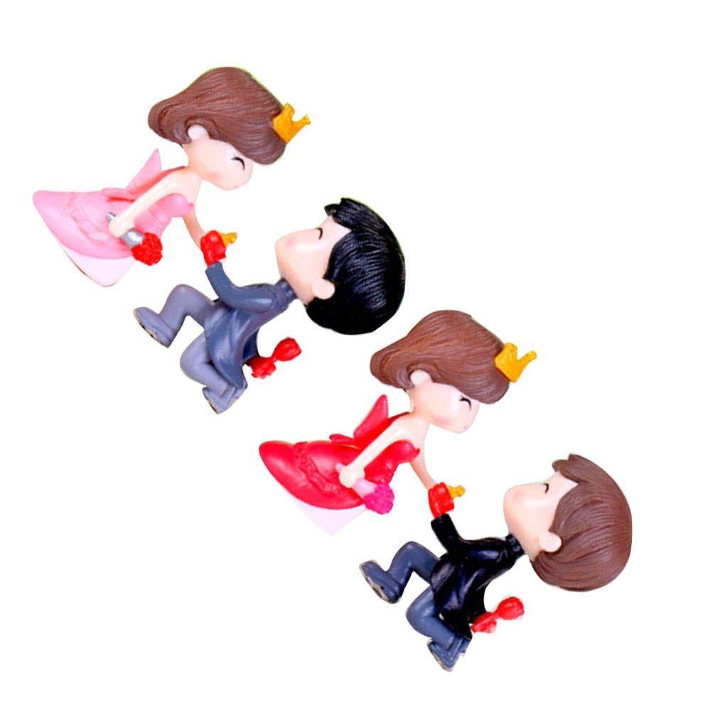 Kakiyi PVC-Braut und Br/äutigam Miniatures Dekoration Ehe Liebhaber Hochzeit Puppe Paar-Kuss Figurinen Garden Ornament vorschlagen