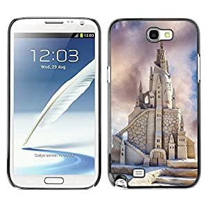 Super Stella Slim PC Hard Case Cover Skin Armor Shell Protection // M00421443 Sandcastle Beach Summer Sand Castle // Samsung Galaxy Note 2 II N7100