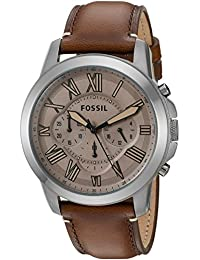 Fossil Grant Chronograph Brown Dial Mens Watch FS5214