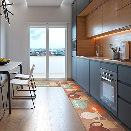 Carvapet 2 Piece Non-Slip Kitchen Mat Rubber Backing Doormat Runner Rug Set, Pots (19''x59''+19''x31'') by Carvapet (Image #2)