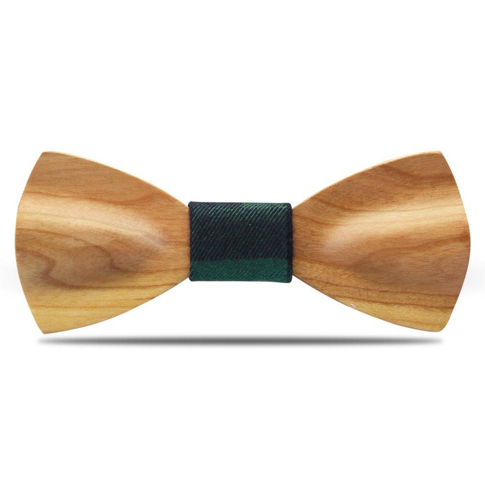 Legno Papillon cravatta YFWOOD handmade legno Self tie unico legno Carving  abbigliamento tuta bowtie pre legato per gli uomini (curva, ciliegio)   Amazon.it  ... cd5ba39f8f15