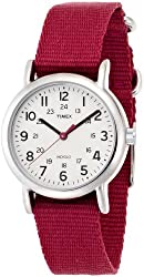 "Timex Women's ""Weekender"" Slip Through Strap Solid Color Watch"